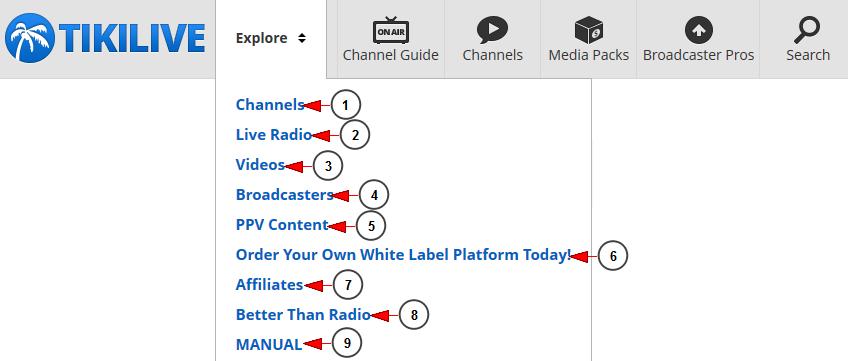 explore live streaming platform