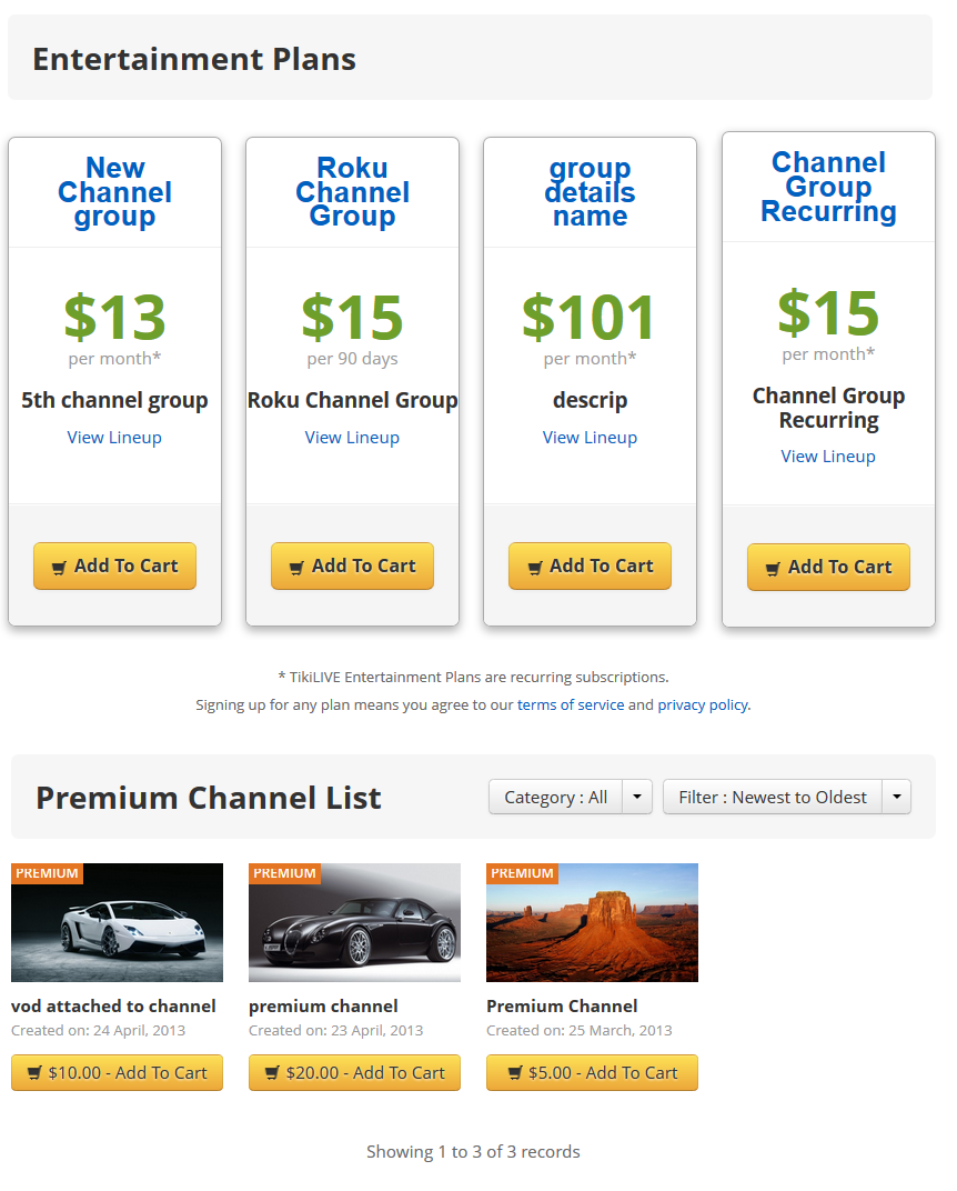 offers page layout